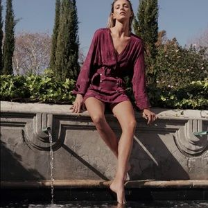 Zara Belted Jacquard Dress